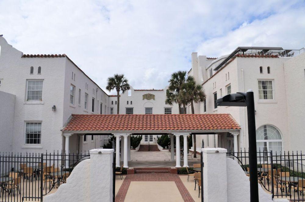 The Casa Marina Hotel along the beach.