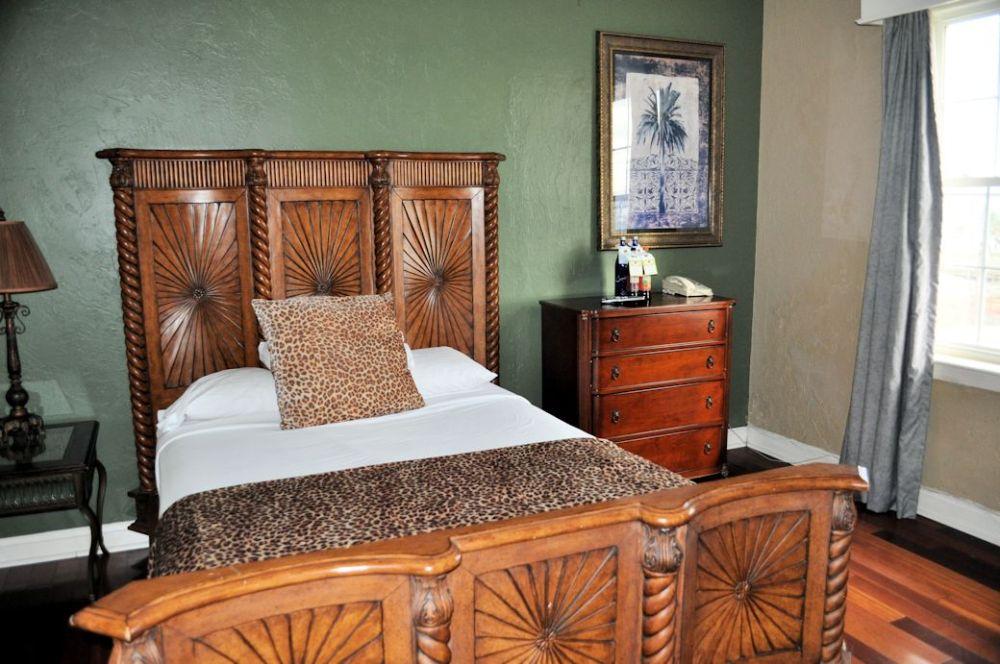 A guest room at the Casa Marina Hotel & Restaurant.