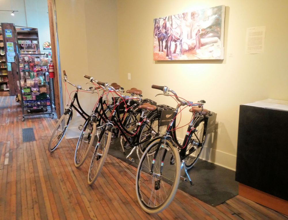 Bikes at the Inn at Lynden.