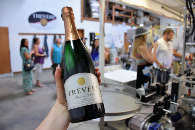 Treveri Cellars sparkling wine.